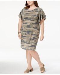 Lucky Brand - Trendy Plus Size Camo-print Dress - Lyst