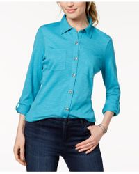 Style & Co. - Utility Shirt, Created For Macy's - Lyst