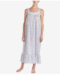 Eileen West - Petite Printed Ballet Woven Nightgown - Lyst
