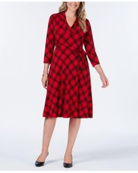 Charter Club - Petite Plaid Fit & Flare Dress, Created For Macy's - Lyst
