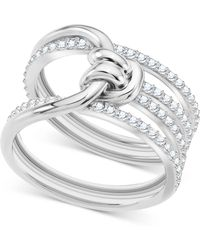 ad6f19438c3dbe Lyst - Swarovski Nirvana Petite Crystal Ring in Metallic