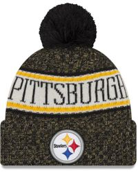 40113db21c4 Lyst - KTZ Pittsburgh Steelers Salute To Service Knit Hat in Green ...