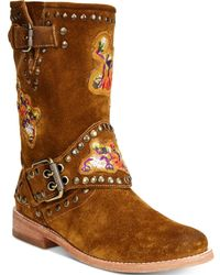 Frye | Women's Nat Flower Engineer Boots | Lyst