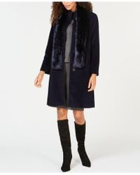 Jones New York - Walker Coat With Faux-fur Scarf - Lyst