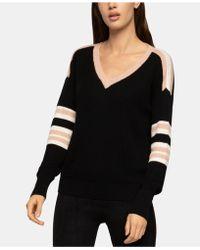 BCBGeneration - Striped Varsity Sweater - Lyst