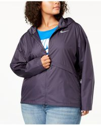 Nike - Plus Size Essential Water-repellent Hooded Running Jacket - Lyst