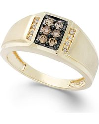 Effy Collection - Men's Brown Diamond And White Diamond Accent Ring In 14k Gold (1/3 Ct. T.w.) - Lyst