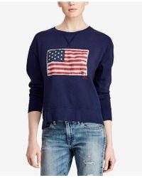 Polo Ralph Lauren | Graphic Terry Sweatshirt | Lyst