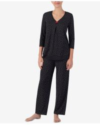 Ellen Tracy - Printed Pajama Top - Lyst
