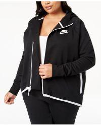 Nike - Plus Size Sportswear Tech Fleece Cape Jacket - Lyst