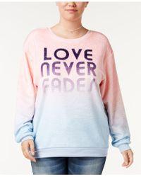 Hybrid - Trendy Plus Size Love Never Fades Ombré Sweatshirt - Lyst