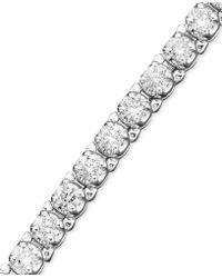 Macy's - Certified Diamond Bracelet In 14k White Gold (3 Ct. T.w.) - Lyst