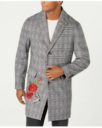 INC International Concepts - Embellished Glen Plaid Topcoat, Created By Macy's - Lyst