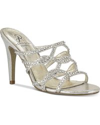 Emma Metallic Rhinestone Encrusted Dress Mules 0WdvTcM