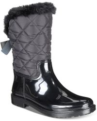 5917dd7a6cf Lyst - Kate Spade Greenfield Floral-embroidered Knee-high Boot in Black