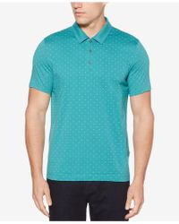 Perry Ellis - Printed Cotton Classic Fit Polo - Lyst