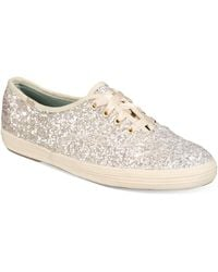 Kate Spade - Keds For Glitter Lace-up Sneakers - Lyst