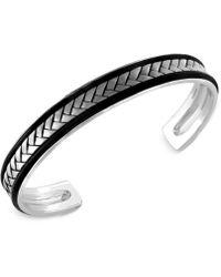 Effy Collection - Men's Woven Cuff Bracelet In Sterling Silver - Lyst