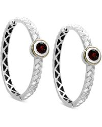 Effy Collection - Rhodolite Garnet Hoop Earrings (2-1/10 Ct. T.w.) In Sterling Silver & 18k Gold - Lyst