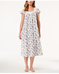 Charter Club - Cotton Floral-border Nightgown, Created For Macy's - Lyst