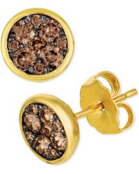 Le Vian - Chocolatier® Diamond Cluster Stud Earrings (1/2 Ct. T.w.) - Lyst