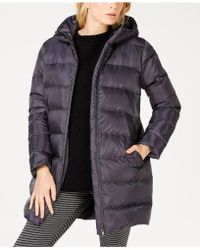 Eileen Fisher - Recycled Polyester Hooded Cocoon Coat, Regular & Petite - Lyst