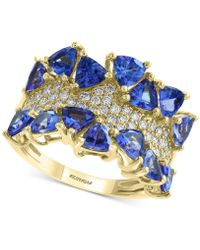 Effy Collection Effy® Tanzanite (3 Ct. T.w.) & Diamond (3/8 Ct. T.w.) Ring In 14k Gold - Blue