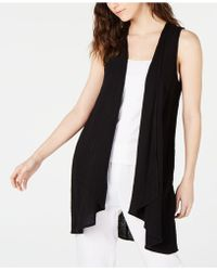 Eileen Fisher - Organic Cotton Open-front Vest - Lyst