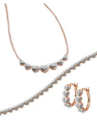 Macy's - Captured Heart Jewelry Collection 3-piece Necklace, Bracelet And Earrings Set - Lyst