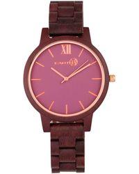 Earth Wood - Pike Wood Bracelet Watch Plum 45mm - Lyst