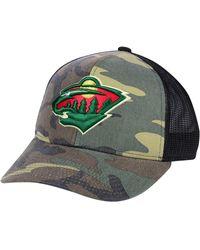 b4c9d3c10b7 Lyst - Reebok Minnesota Wild Pom Knit Hat in Green for Men