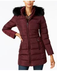 INC International Concepts - Faux-fur-trim Puffer Coat - Lyst