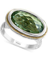 Effy Collection - Effy® Prasiolite Ring (5-1/3 Ct. T.w.) In Sterling Silver & 18k Gold - Lyst