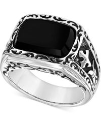 Scott Kay - Men's Onyx (15 X 11mm) Ring In Sterling Silver - Lyst