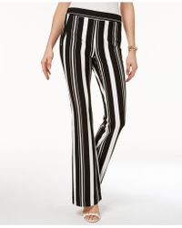 INC International Concepts - Striped Ponté-knit Bootcut Pants, Created For Macy's - Lyst