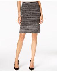 Kasper - Textured Knit Slim Skirt - Lyst