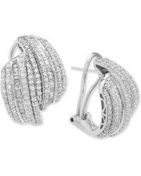 Wrapped in Love - Diamond Drop Earrings (2 Ct. T.w.) In Sterling Silver - Lyst