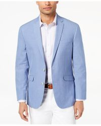 Kenneth Cole Reaction - Slim-fit Blue Chambray Sport Coat - Lyst