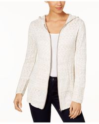 Style & Co. - Marled-knit Hoodie Sweater - Lyst