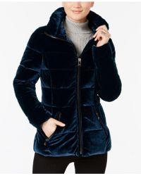 INC International Concepts | Quilted Velvet Coat | Lyst