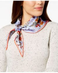 Vince Camuto - You're The Bees Knees Silk Bandana Scarf - Lyst