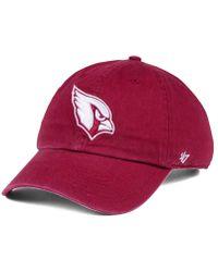 47 Brand - Cardinal Clean Up Cap - Lyst