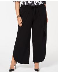 INC International Concepts - I.n.c. Plus Size Soft Overlay Wide-leg Pants, Created For Macy's - Lyst