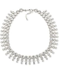 Carolee - Silver-tone Collar Necklace - Lyst