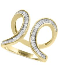 Effy Collection - Diamond Baguette Swirl Ring (3/4 Ct. T.w.) In 14k Gold - Lyst