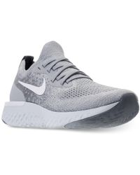Nike - Epic React Flyknit (gs) Wolf Grey/ White-cool Grey - Lyst