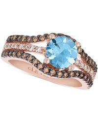 Le Vian - Sea Blue Aquamarine® (9/10 Ct. T.w.) & Diamond (1/2 Ct. T.w.) Ring In 14k Rose Gold - Lyst