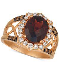 3aac20f7f3ff4 ® Rhodolite Garnet (3-1/5 Ct. T.w.) & Diamond (1/2 Ct. T.w.) Ring In 14k  Rose Gold