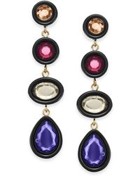 INC International Concepts - I.n.c. Gold-tone Multi-stone Drop Earrings, Created For Macy's - Lyst