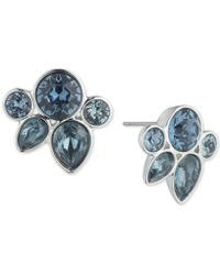 Givenchy - Crystal Cluster Button Earrings - Lyst